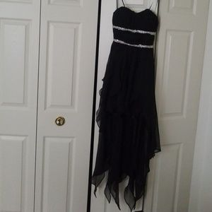 Black high low homecoming/formal dress